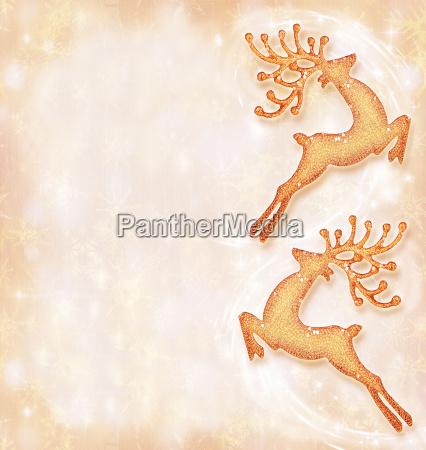 christmas holiday card festive background reindeer