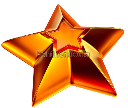 shiny gold star