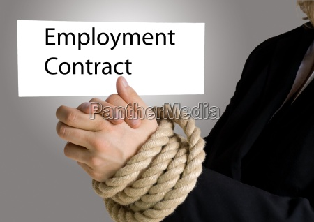 hands in chain holding banner with
