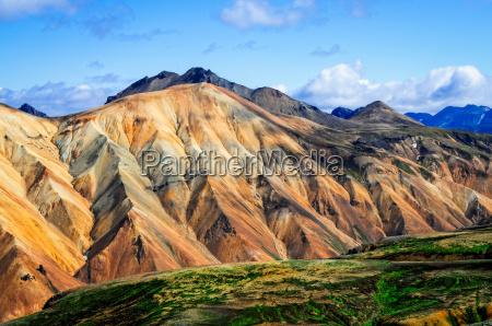 landmannalaugar colorful mountains landscape view