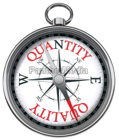 quality versus quantity concept compass