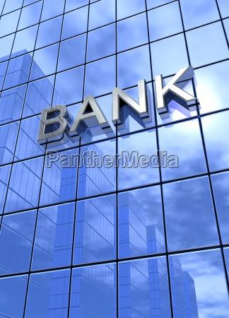 bank concept silver blue 3 vertical
