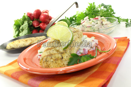 hake with parsley