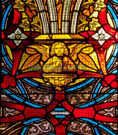 church window with angel