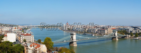 panoramic overview of budapest hungary