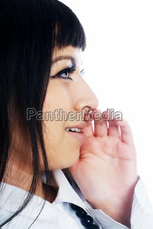 whispering woman