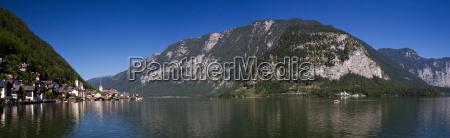 panorama of lake hallstatt