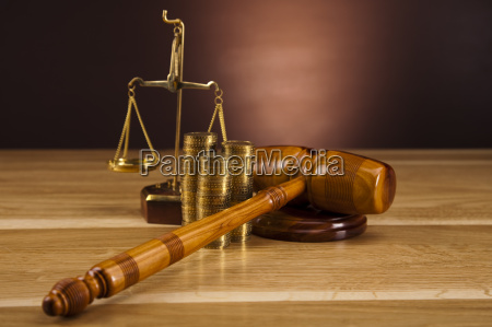 wooden gavel barrister justice concept