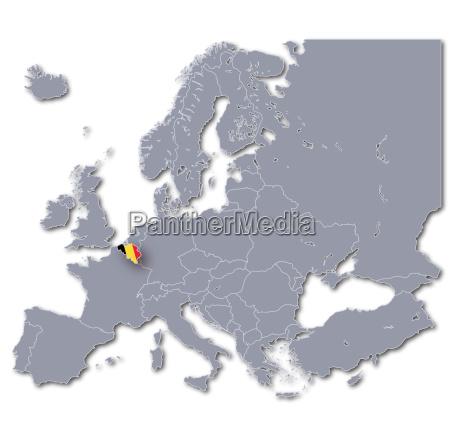 europe map belgium