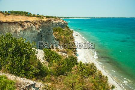 sea coast with white sand