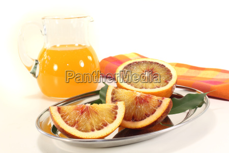 blood oranges with juice