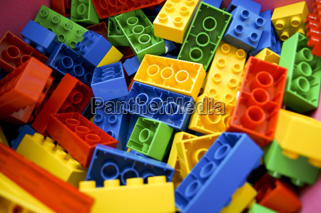 playing with toy blocks