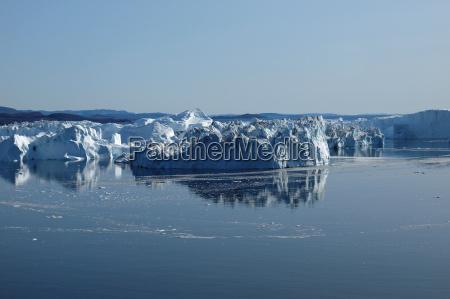 icebergs ilulissat south coast greenland in