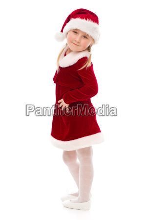 little girl in santa costume