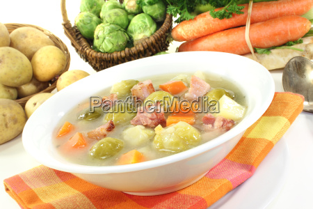 cooked brussels sprouts stew