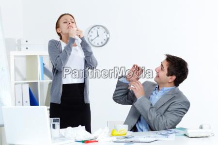 sick colleague