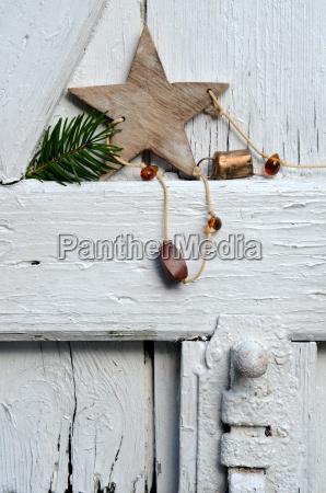 christmas card wood star voucher