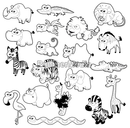 savannah animal family