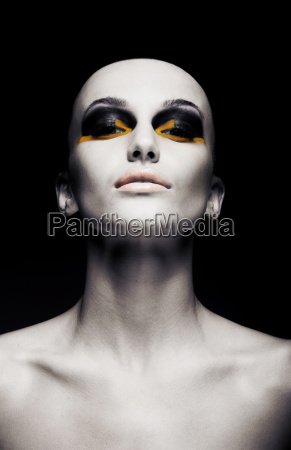 beautiful bald futuristic unusual woman