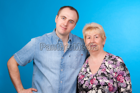 portrait of mother and son in