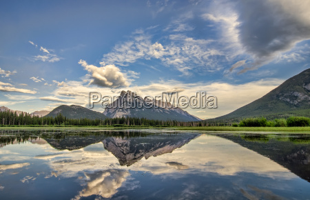 vermilion lakes perfect reflection