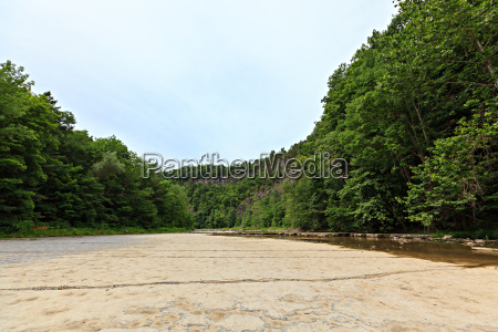 dried up river bed in the