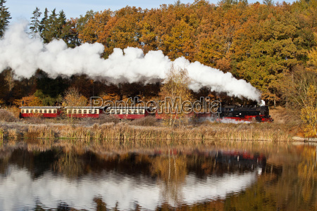 harz narrow gauge railways in autumn