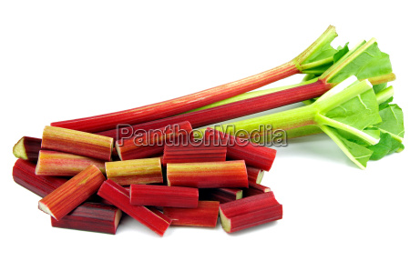 rhubarb on a white background