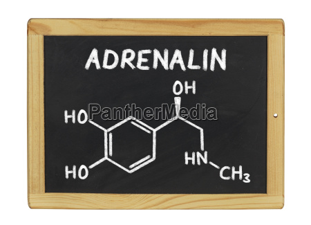 chemical structural formula of adrenaline on