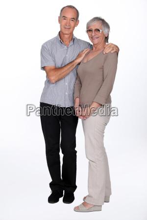 full length senior couple