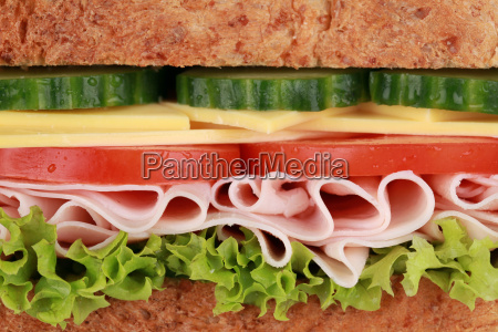 close up of a sandwich with