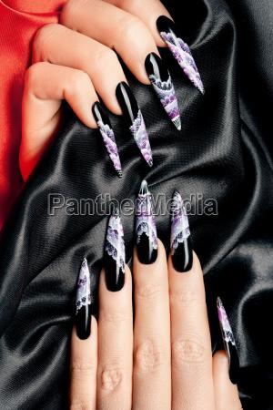nail art close up