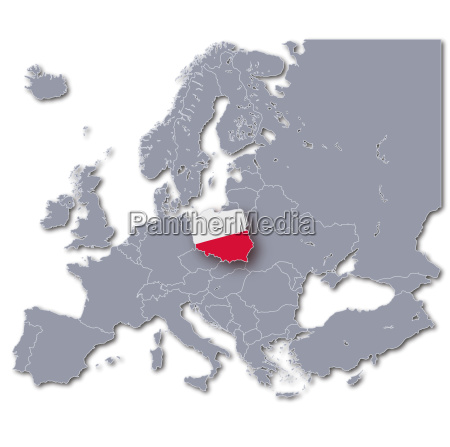 europe map of poland