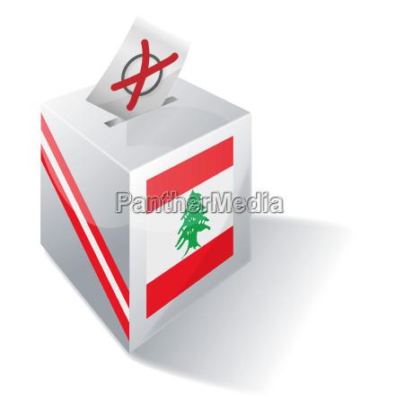 election box lebanon