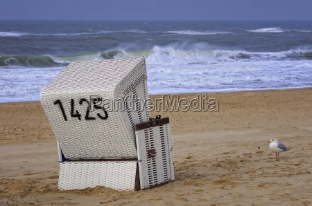 beach chair at the north sea