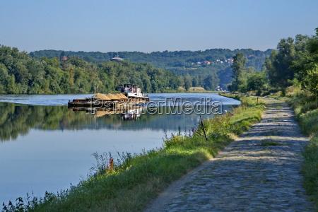 on the vltava river between prague