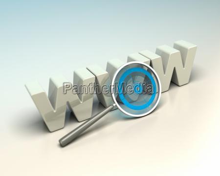 web search engine internet seo concept
