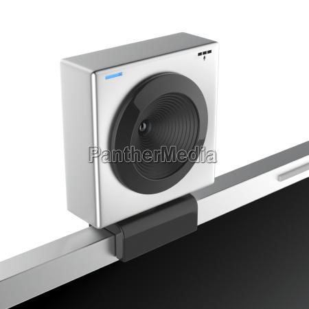 web cam on laptop
