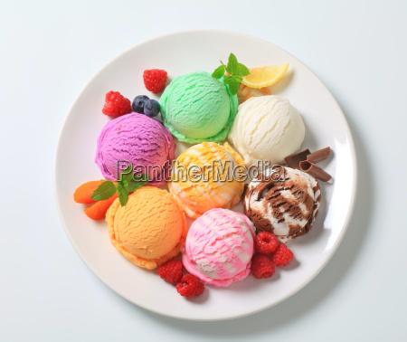 assorted ice cream