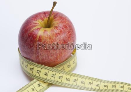 apple and ribbon