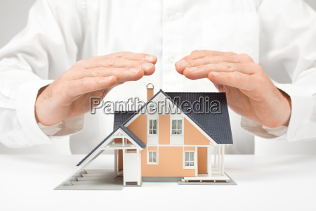 protect house insurance concept
