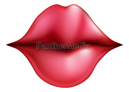 kissing lips