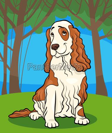 cocker spaniel dog cartoon illustration