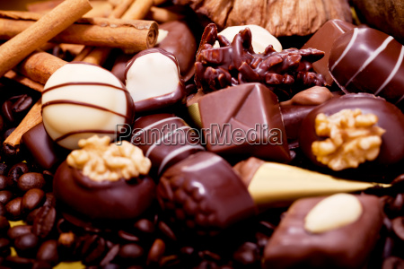 various mixed chocolates from bright and