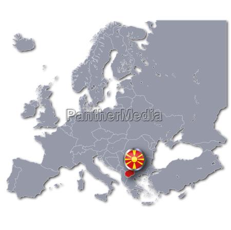 europe map of macedonia
