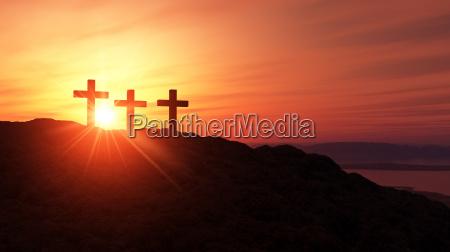 3 crosses on the summit