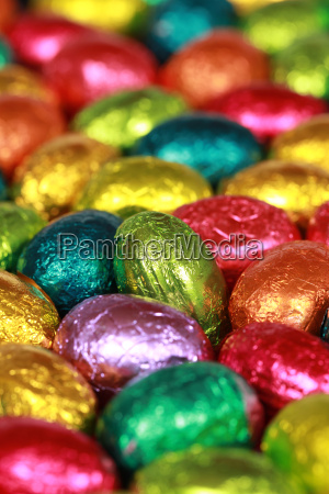 eggs made of chocolate at easter