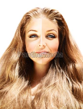 conceptual image of skin tone