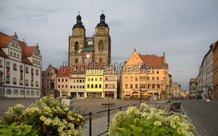 market square and town hall in