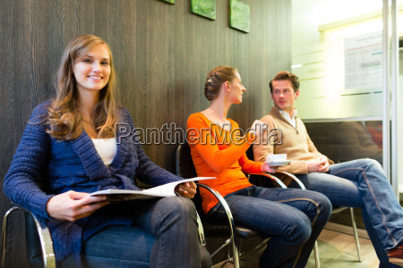patients in the waiting room of